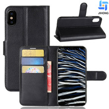 For iphone X Case Flip Wallet Stand Mobile Phone Credit Card Holder Leather Cover for iPhone X Wallet case