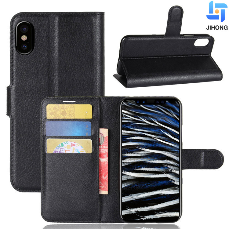 For iphone X Flip Cover Mobile Phone Leather Stand for iPhone X Wallet case