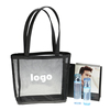 Soft loop handle mesh tote bag shopping bags nylon mesh beach bag