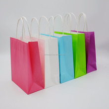Custom paper bags with twisted paper handles