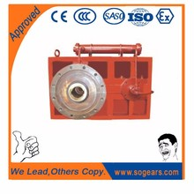 Hard gear face gearbox reduction box for plastic wire trunking e