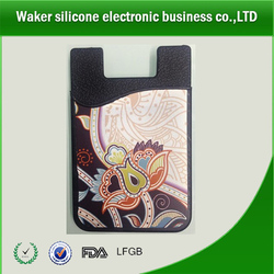 china supplier Silicone Mobile Device Pocket, Hot 3M adhesive mobile phone silicone smart card