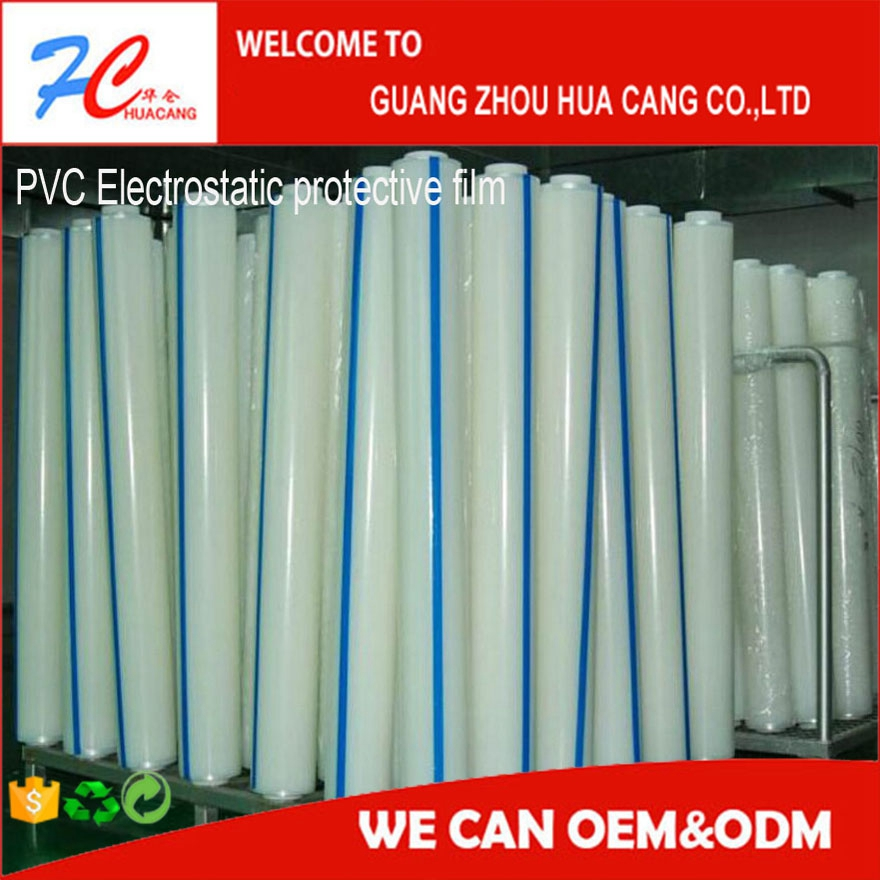 PVC Electrostatic cling clear glass film,New refrigerator, TV protective film