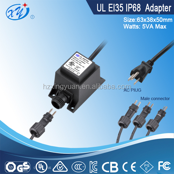 IP68 waterproof variable transformer 5w power transformer with SAA approval