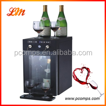 Electric Stainless Steel Wine Cooler with Rechargeable Cartridge