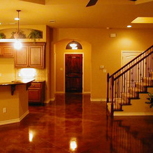 Basement metallic epoxy enamel floor paint