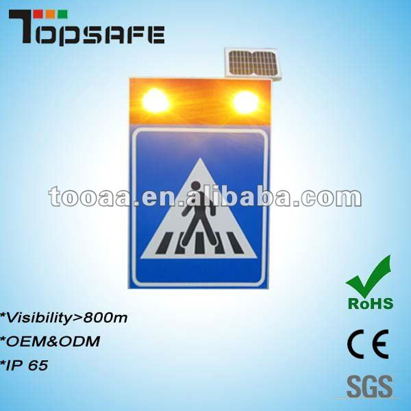 2013 New Model,CE approved Aluminium LED Solar Pedestrian Sign