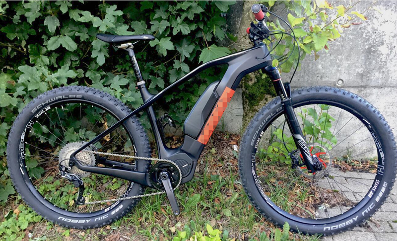 Mountain e bike frame carbon tire 2.8''