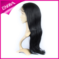 100% Density Natural Straight Indian Remy Virgin Hair Full Lace Wig with Baby Hair