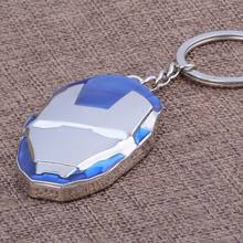 Hot Zinc Alloy Keychain Jewelry Anime Spot Hit The Avengers Alliance Iron Man Keyring For Teenagers gifts