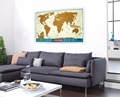 Scratch off World Map Travel Tracker - Europe Close-up USA States Outlined Kids Educational Poster Traveler Accessory