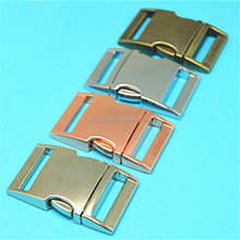 Gold supplier metal buckles for dog collars,20mm side release metal buckle,25mm buckle for dog leashes
