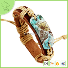 2016 Hot Sale Pure Handmade Make Your Own Logo Leather Bracelet