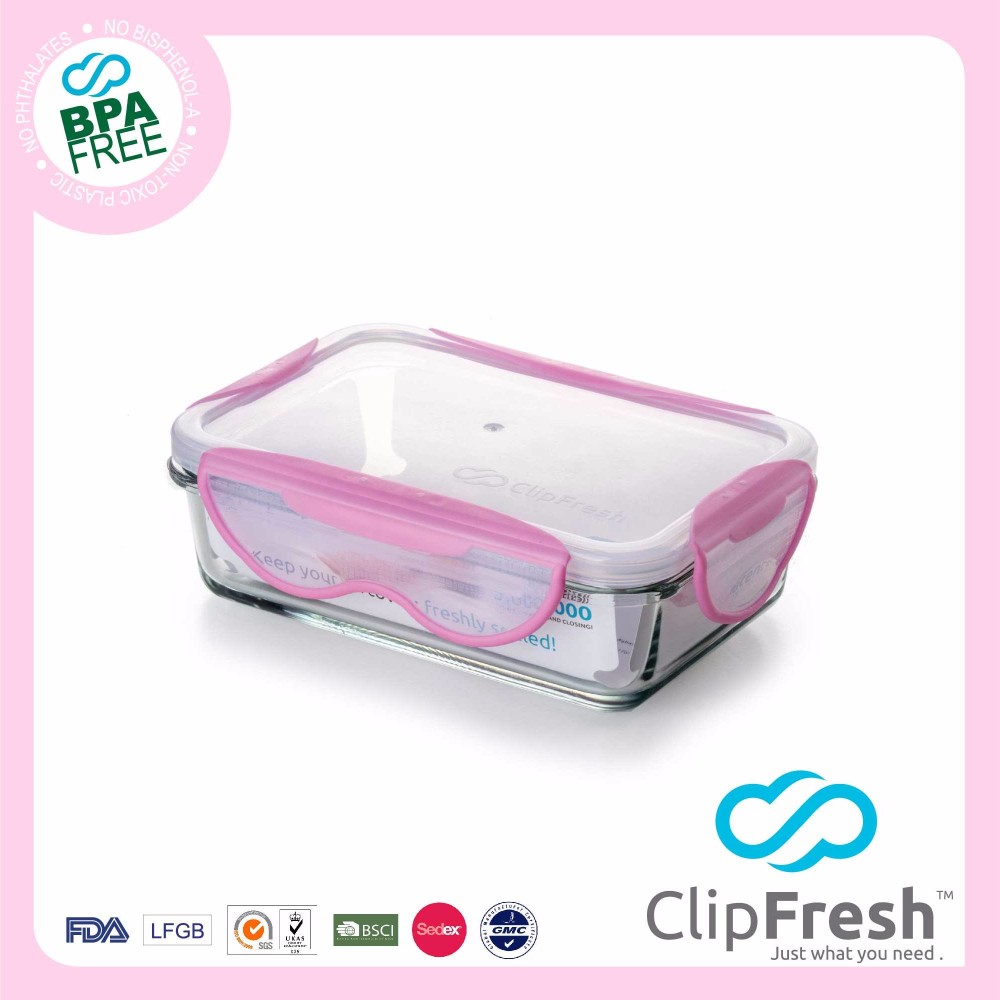Clip Fresh Bpa free large Glass Microwave Food Container 2.5L