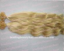 Top quality Natural Wavy Flat Tips Remy Hair Extentions