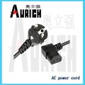 h07rn-f cord set VDE approval 220v plug iec end 3 core power cable
