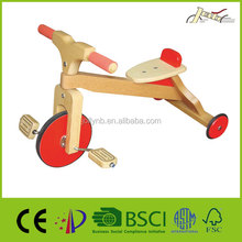Popular Smart Children Wooden Tricycles for Walking Training
