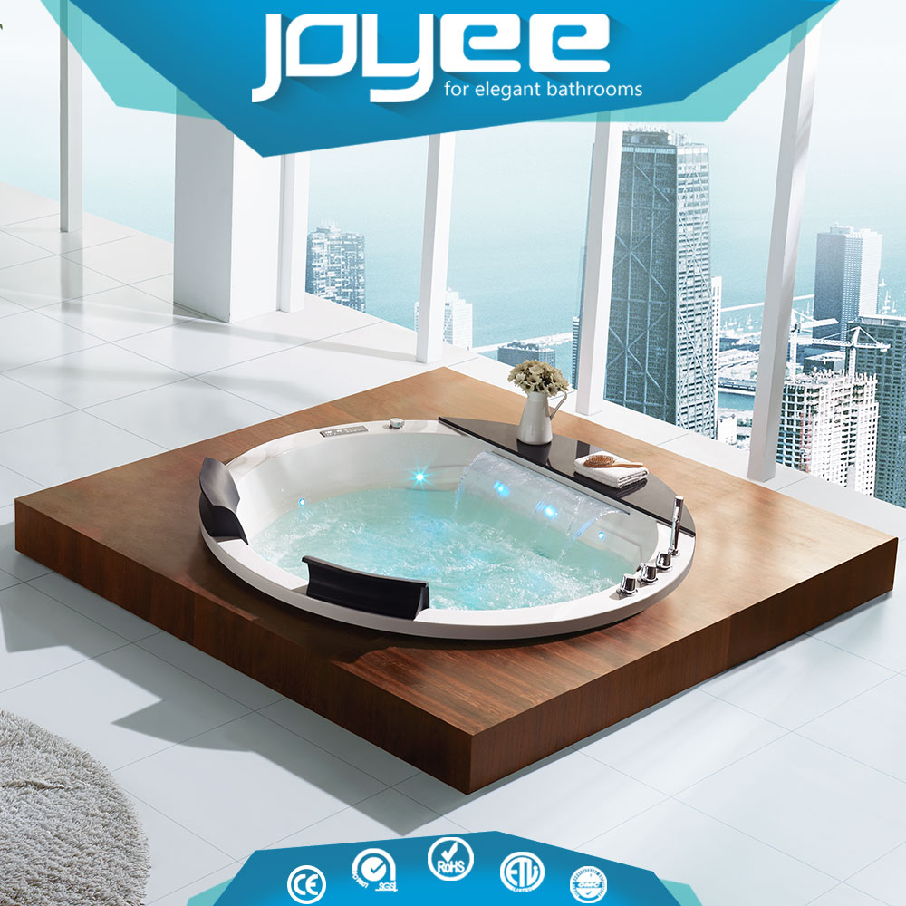 Jet face book whirlpool bathtub with TV massage hot tub round hot tub