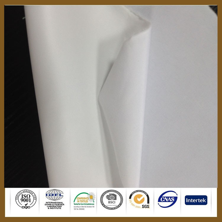 white 100% polyester stretch pu coated knitted fabric