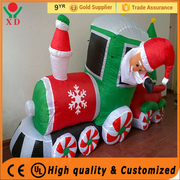 Wholesale Inflatable santa christmas lights outdoor santa claus lighted inflatable christmas