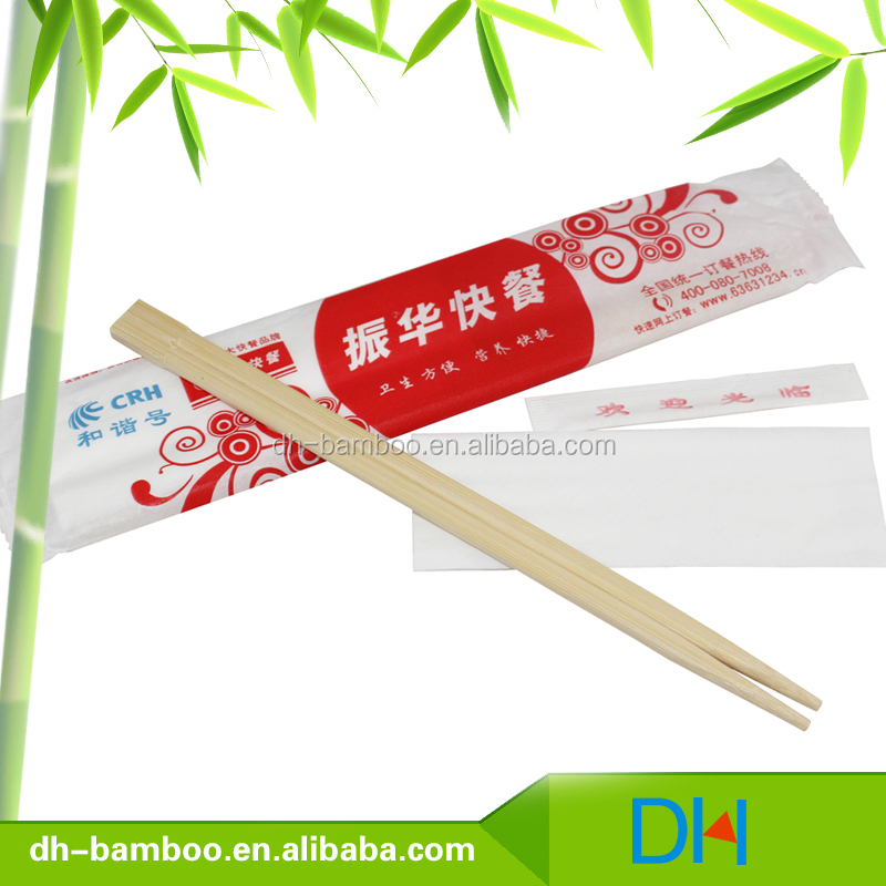 Cheap Disposable Bamboo Chopsticks Round Wooden Chopsticks In Bag