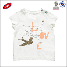 wholesale baby clothing china, baby white t shirt