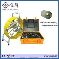 Industrail plumbing pipe inspection camera robot with 60m cable and DVR control box