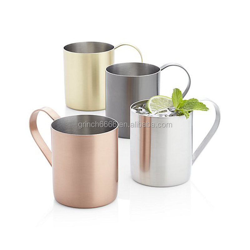 Pure Black, Silver,Gold,Copper Moscow Mule Mug