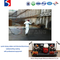 short film-forming time rubber and bitumen/bituminous waterproofing coating for basement wall underground space