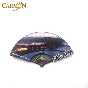 China Factory Directly Custom Fan Shape 3D Magnets Souvenir Wood Sticker Car Shape Fridge Magnet