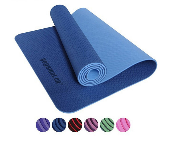 TPE Yoga Mat 6mm Thickness Pad Non-Slip Lose Weight Exercise Fitness folding gymnastics mat for fitness