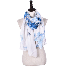 New Arrival Design Printed Pattern 100% polyester scarves with necklace attached