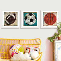 Square Baseball Photo Frame Plastic Basketball Football Picture Frames White