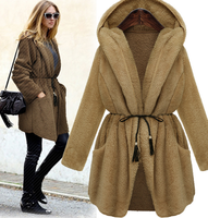 W71295G 2015 loose lady long overcoat mink fur coat women winter coats hooded