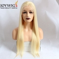 Virgin European Hair Top 10A 613 Blonde High Ponytail Cuticle Aligned Hair Full Lace Wig