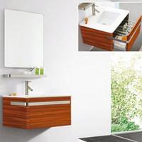 Modern Wall Hung Solid Wood Oak Bathroom Vanity Cabinet