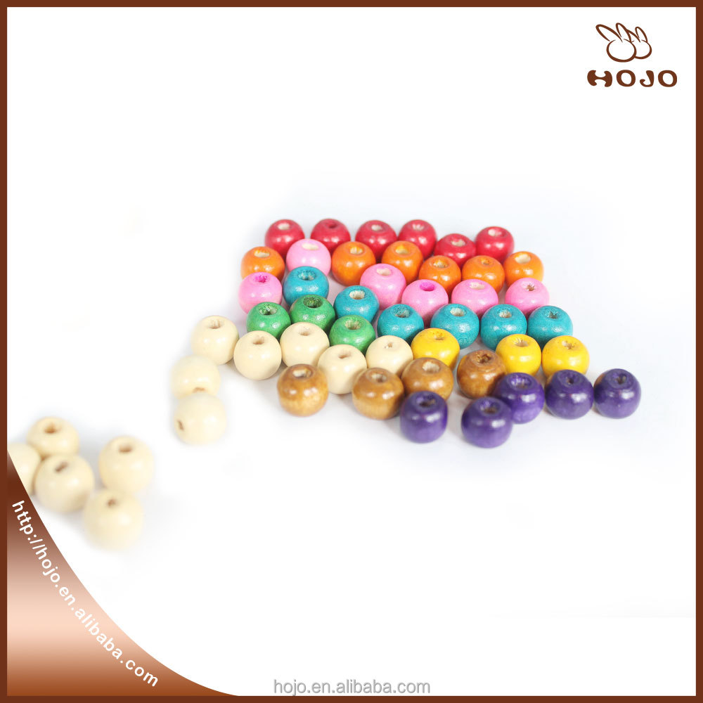 Round beads wooden crafts 8mm colors 60 pcs for jewelry bracelet and necklace