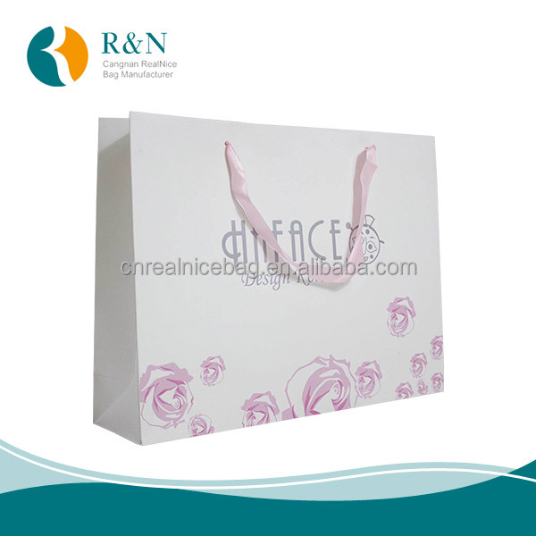 China factory White Paper Bag With Twisted Paper Handle,custom waterproof kraft paper bag,jewelry paper bag