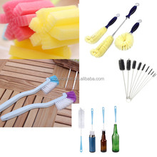 Washing tool flexible bottle scourer bottle brush for wine decanter glasses cups cleaning with long plastic handle
