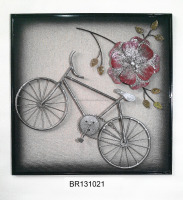 Metal Bicycle Decoration Wall Art, Handmade Bike Home Decor