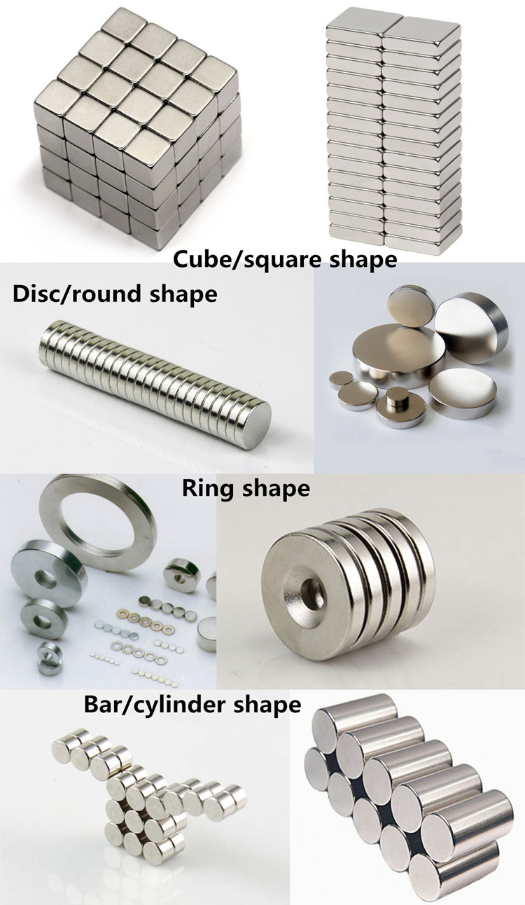 Disc / cylinder strong rare earth neodymium magnets with nickel / zinc coating