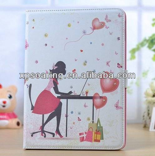 for ipad air Diamond Bling bling leather case pouch