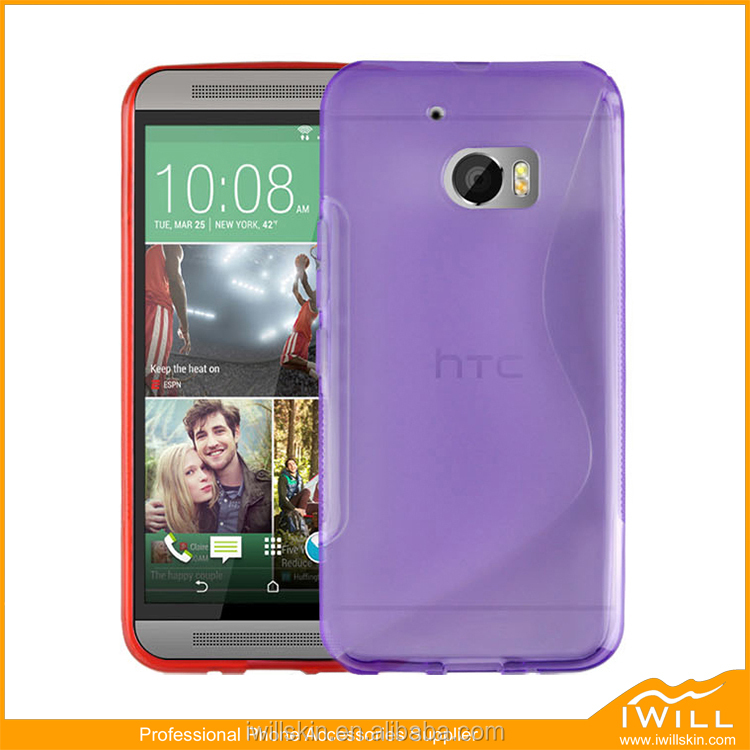 Purple colorful cellphone Case for HTC M10, S Wave TPU Back Case For HTC M10
