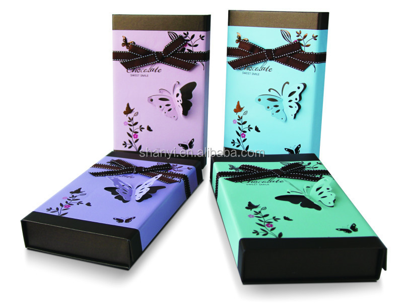 Chocolate Gift Boxes South Africa : Recycle high end cheap brown chocolate packaging