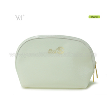 Promotion waterproof shell shape pu leather cosmetic makeup bags