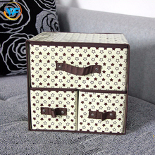 Custom Polka Dot Star Pattern Foldable White Decoration Storage Drawer