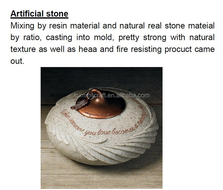 Customized artificial stone alike hanging souvenir