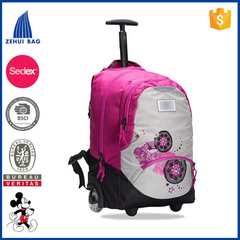 Rolling luggage kids wheeled backpack