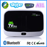 china wholesale CS918S Android 4.2.2 Quad Core TV Box Allwinner A31 2GB + 16GB 5.0MP Camera Bluetooth 4.0 + Remote Controller
