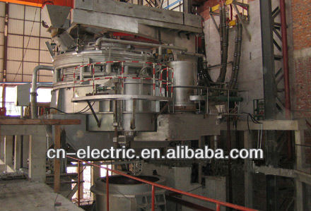 Electric Arc Furnace with tubular water cooled wall panel